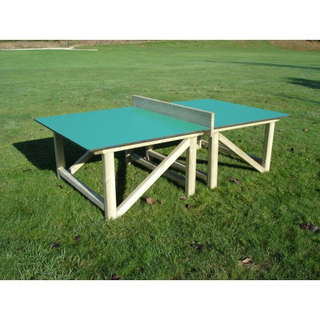 Table de ping pong en bois compact table de ping pong en for Table de ping pong exterieur pour collectivite