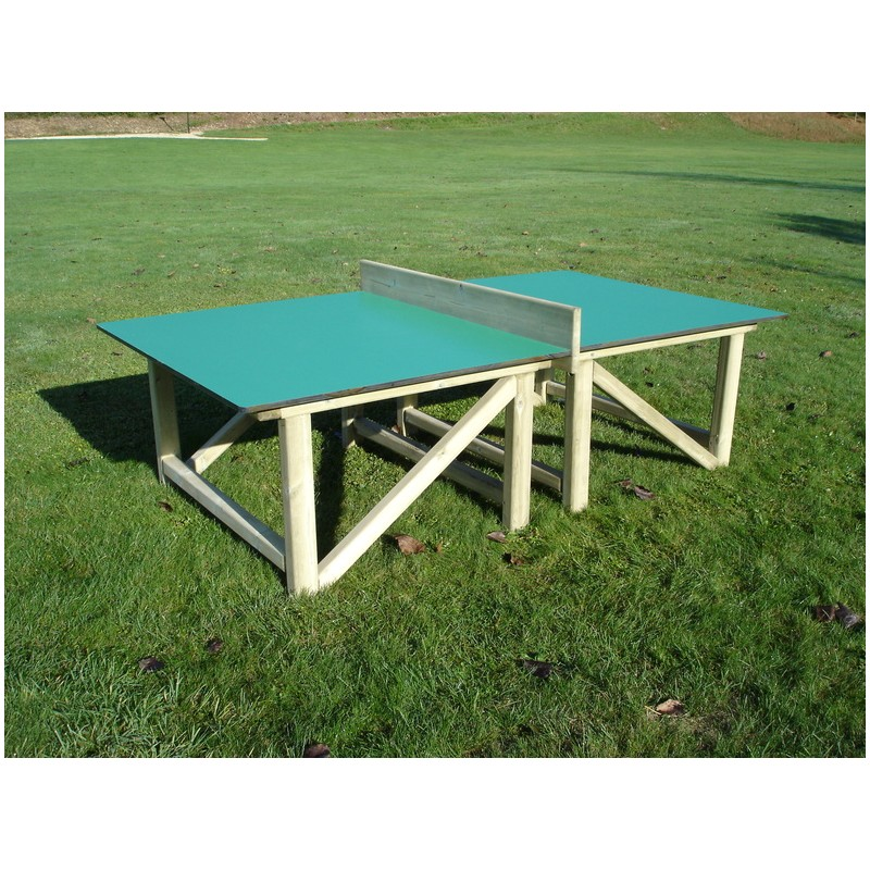 Table de ping pong en bois compact table de ping pong en - Table de ping pong exterieur pour collectivite ...