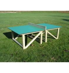 Table ping pong avec plateau en bois compact