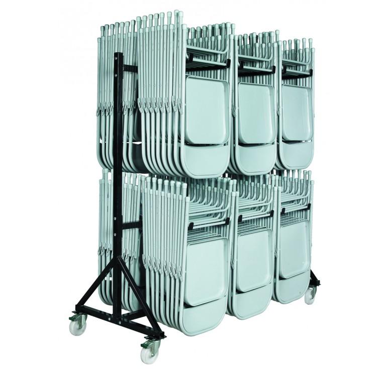 chariot pour chaises pliantes roulettes chariot pour chaises pliantes en acier leader. Black Bedroom Furniture Sets. Home Design Ideas