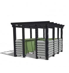 cache conteneur et cache poubelle leader equipements. Black Bedroom Furniture Sets. Home Design Ideas