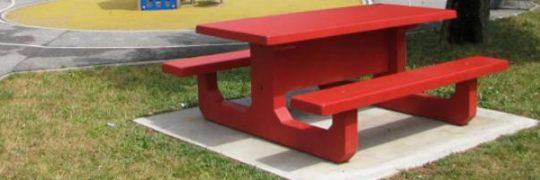 Aménager votre parc avec du mobilier en béton