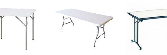 La table pliante, idéale pour aménager votre salle des fêtes
