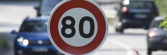 Réduction de la vitesse de circulation de 90 à 80km/h