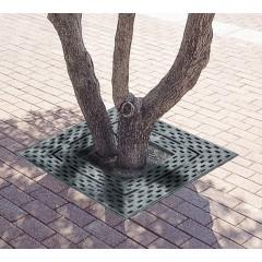 Grille d'arbre en fonte