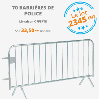 barrière de police 14 barreaux - leader équipements