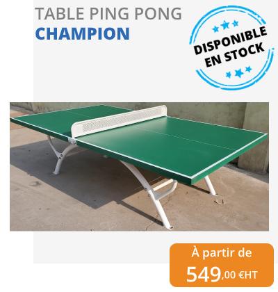table de ping pong extérieure - leader équipements