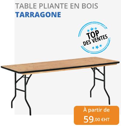 table pliante en bois - leader équipements