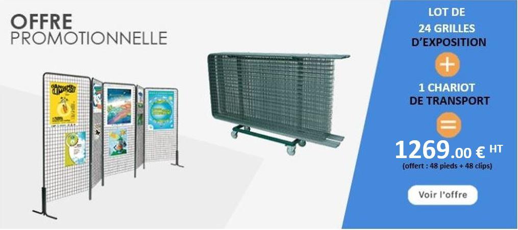 Offre promo : 1 lot de 24 grilles + 1 chariot - Net Collectivités