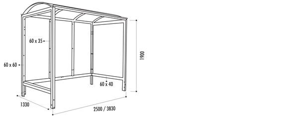 dimension abri bus. Black Bedroom Furniture Sets. Home Design Ideas