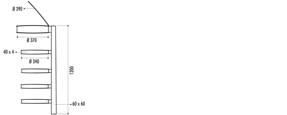 Descriptif de la poubelle vigipirate 4 arceaux