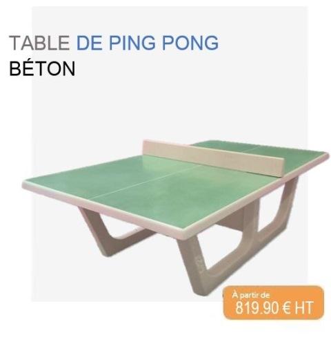 Table ping pong béton Rondo