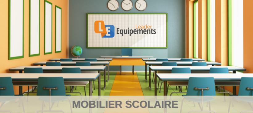 Mobilier scolaire, bureau pour élèves, chaises écoliers
